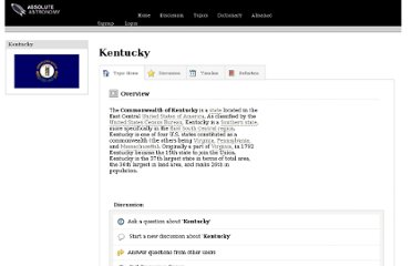 http://www.absoluteastronomy.com/topics/Kentucky