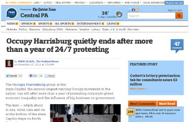 http://www.pennlive.com/midstate/index.ssf/2012/11/occupy_harrisburg_quietly_ends.html