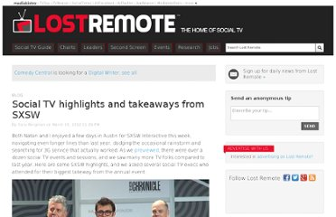 http://lostremote.com/social-tv-highlights-and-takeaways-from-sxsw_b26866