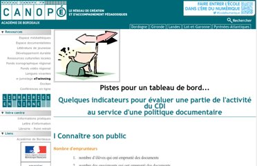 http://crdp.ac-bordeaux.fr/documentalistes/formation_documentaire/indicateurscdi.asp