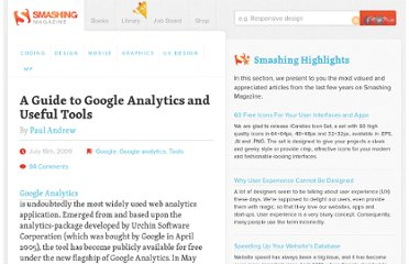 http://www.smashingmagazine.com/2009/07/16/a-guide-to-google-analytics-and-useful-tools/