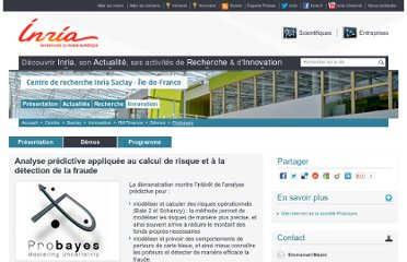 http://www.inria.fr/centre/saclay/innovation/rii-finance/demos/probayes