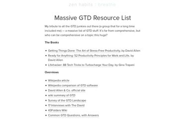 http://zenhabits.net/massive-gtd-resource-list/