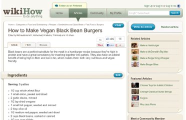 http://www.wikihow.com/Make-Vegan-Black-Bean-Burgers
