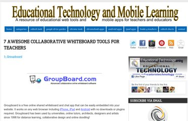 http://www.educatorstechnology.com/2012/11/7-awesome-collaborative-whiteboard.html