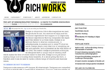 http://richworks.in/2010/07/the-art-of-design-creative-thinking-ways-to-foster-innovation/