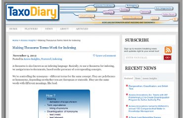 http://taxodiary.com/2012/11/making-thesaurus-terms-work-for-indexing/