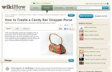 http://www.wikihow.com/Create-a-Candy-Bar-Wrapper-Purse