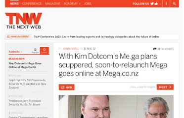 http://thenextweb.com/au/2012/11/12/kim-dotcoms-me-ga-domain-plans-scuppered-megaupload-goes-live-at-mega-co-nz/