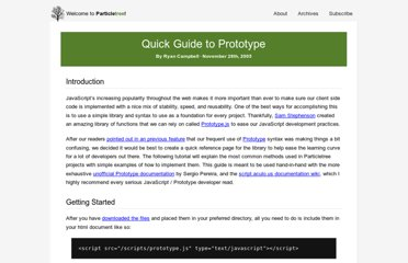 http://particletree.com/features/quick-guide-to-prototype/