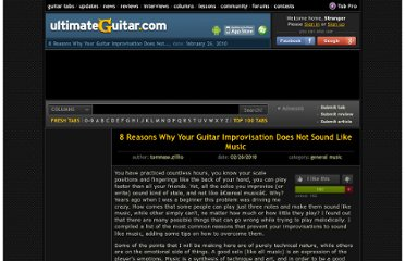 http://www.ultimate-guitar.com/columns/general_music/8_reasons_why_your_guitar_improvisation_does_not_sound_like_music.html