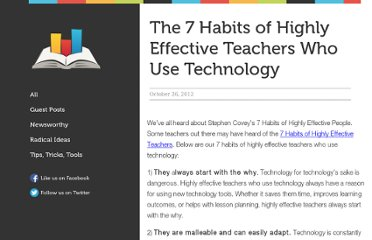 http://blog.alwaysprepped.com/the-7-habits-of-highly-effective-teachers-who-use-technology/?CH=T&WA=7habits