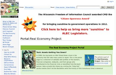 http://www.sourcewatch.org/index.php/Portal:Real_Economy_Project