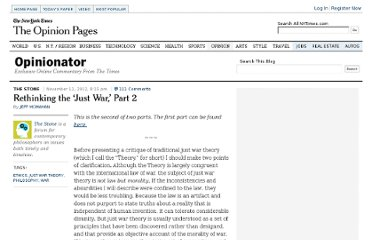 http://opinionator.blogs.nytimes.com/2012/11/12/rethinking-the-just-war-part-2/