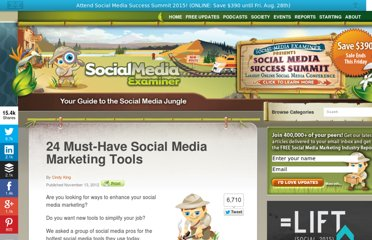 http://www.socialmediaexaminer.com/24-must-have-social-media-marketing-tools/