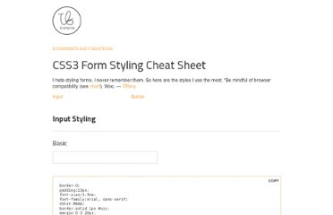 http://code.tiffbits.com/css3-form-styling-cheat-sheet/