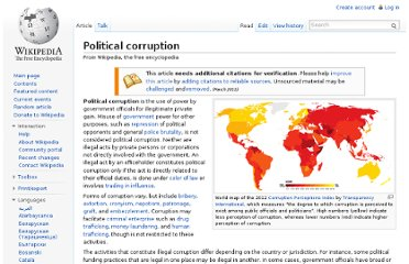 http://en.wikipedia.org/wiki/Political_corruption