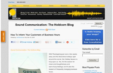 http://soundcommunication.holdcom.com/bid/91450/How-To-Inform-Your-Customers-of-Business-Hours
