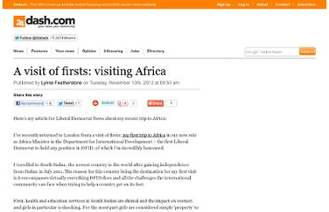 http://www.24dash.com/blogs/lynne_featherstone_mp/2012/11/13/A-visit-of-firsts-visiting-Africa/#.UKIoJNB0Cwg.twitter