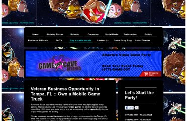 http://www.game-cave.com/buy-a-mobile-arcade/veteran-small-business-opportunites-in-tampa-fl/