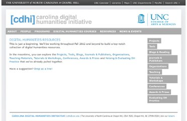 http://digitalhumanities.unc.edu/resources/