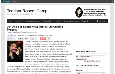 http://teacherrebootcamp.com/2012/11/13/20-digital-storytelling-apps/