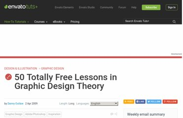 http://psd.tutsplus.com/articles/web/50-totally-free-lessons-in-graphic-design-theory/