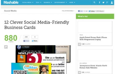 http://mashable.com/2010/07/12/social-media-business-cards/