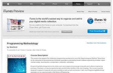 https://itunes.apple.com/us/course/programming-methodology/id495054181