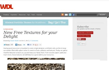 http://webdesignledger.com/resources/new-free-textures-for-your-delight