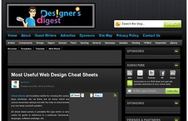 http://www.designersdigest.co/archive/most-useful-web-design-cheat-sheets/