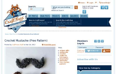 http://www.craftfoxes.com/how_tos/crochet-mustache-free-pattern
