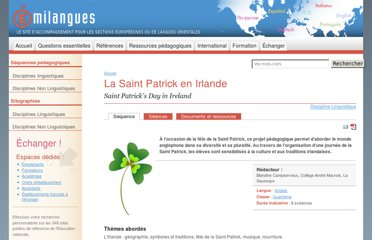 http://www.emilangues.education.fr/ressources-pedagogiques/sequences/discipline-linguistique/la-saint-patrick-en-irlande