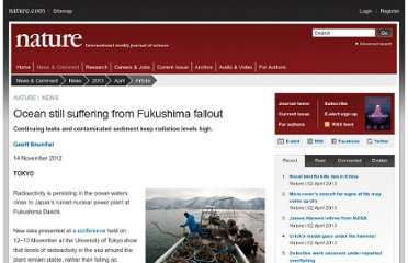 http://www.nature.com/news/ocean-still-suffering-from-fukushima-fallout-1.11823