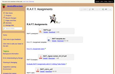 http://daretodifferentiate.wikispaces.com/R.A.F.T.+Assignments