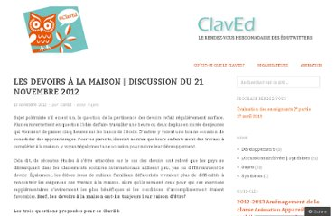 http://claved.wordpress.com/2012/11/13/les-devoirs-a-la-maison-discussion-du-21-novembre-2012/