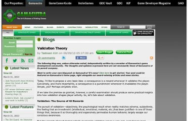 http://www.gamasutra.com/blogs/TaekwanKim/20100609/5330/Validation_Theory.php