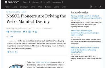 http://gigaom.com/2010/07/12/nosql-pioneers-are-driving-the-webs-manifest-destiny/