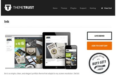 http://themetrust.com/themes/ink