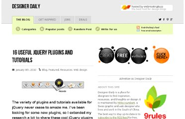 http://www.designer-daily.com/15-useful-jquery-plugins-and-tutorials-5207
