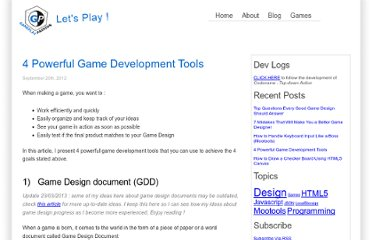 http://www.gameplaypassion.com/blog/4-powerful-game-development-tools/