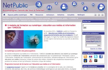 http://www.netpublic.fr/2012/11/modules-formation-numerique/