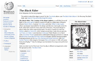 http://en.wikipedia.org/wiki/The_Black_Rider