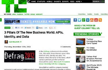 http://techcrunch.com/2012/11/15/3-pillars-of-the-new-business-world-apis-identity-and-data/