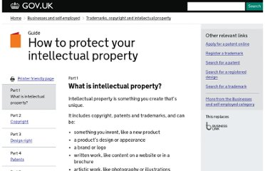 https://www.gov.uk/intellectual-property-an-overview/what-is-intellectual-property