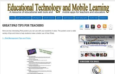 http://www.educatorstechnology.com/2012/11/great-ipad-tips-for-teachers.html