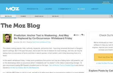 http://www.seomoz.org/blog/prediction-anchor-text-is-dying-and-will-be-replaced-by-cocitation-whiteboard-friday