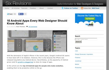 http://sixrevisions.com/tools/10-android-apps-every-web-designer-should-know-about/
