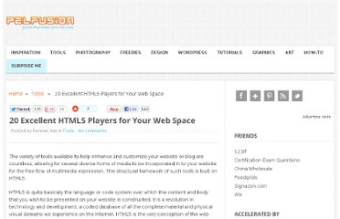 http://pelfusion.com/html5-players-for-your-web-space/