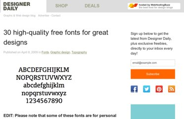 http://www.designer-daily.com/30-high-quality-free-fonts-for-professional-designs-1999